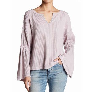 Free People Dahlia Thermal Knit Sweater M